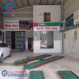 Cầu nâng rửa xe 1 trụ Việt Nam
