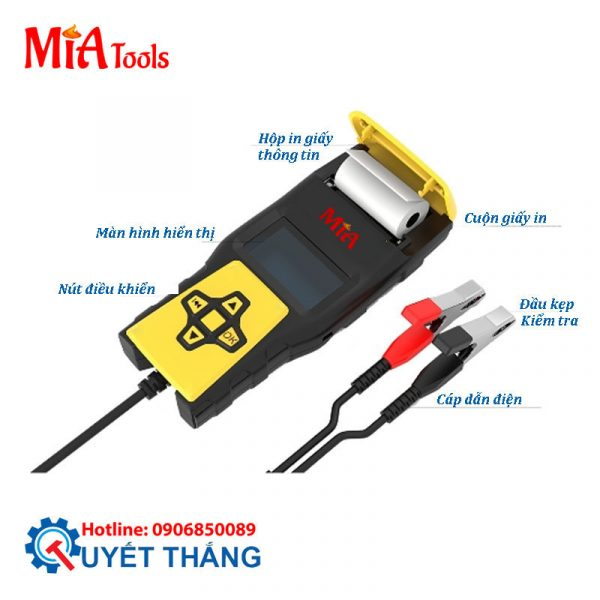 T-1000 MIA Máy kiểm tra ắc qui có in phiếu